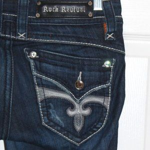 Rock Revival Stephanie boot cut jeans size 27